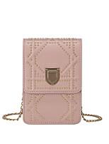Недорогие -Жен. Мешки PU Мобильный телефон сумка Молнии Белый / Черный / Розовый