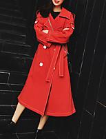 Недорогие -длинный рыхлый пальто женщин - сплошной цвет