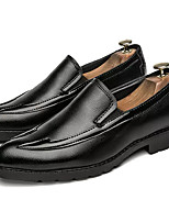 Недорогие -Муж. Комфортная обувь Полиуретан Зима На каждый день Мокасины и Свитер Нескользкий Черный / Красный