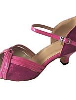 abordables -Femme / Fille Chaussures Latines Polyuréthane Sandale Talon Cubain Chaussures de danse Pêche