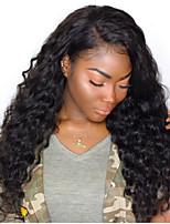 Недорогие -человеческие волосы Remy Необработанные натуральные волосы 100% ручная работа Фронтальная часть Полностью ленточные Парик Бразильские волосы Волнистый Свободные волны Парик 130% 180% Плотность волос