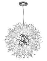 abordables -OBSESS® Cristal / Globe Lustre Lumière d'ambiance Plaqué Métal Cristal, Style mini, Protection des Yeux 110-120V / 220-240V Blanc Crème / Blanc Neige