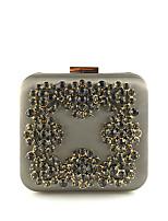 Недорогие -Жен. Мешки Полиэстер Вечерняя сумочка Молнии Черный / Оранжевый / Светло-серый