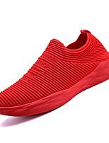 Недорогие -Муж. Комфортная обувь Сетка Осень На каждый день Мокасины и Свитер Беговая обувь Дышащий Черный / Серый / Красный