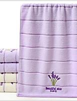 abordables -Qualité supérieure Serviette, Fleur Polyester / Coton Salle de  Bain 1 pcs