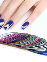 billiga -12 pcs Nail Foil Striping Tape Multifunktion / Bästa kvalitet Kreativ nagel konst manikyr Pedikyr Dagligen / Festival Trendig / Mode
