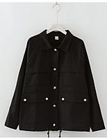 Недорогие -женская куртка - сплошной цветной пантер с воротником