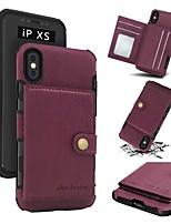 Недорогие -Кейс для Назначение Apple iPhone X / iPhone XS Max Бумажник для карт / Защита от удара / Защита от пыли Кейс на заднюю панель Однотонный Мягкий ТПУ для iPhone XS / iPhone XR / iPhone XS Max