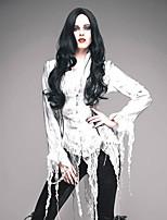 Недорогие -Винтажная коллекция Steampunk Костюм Жен. Блузы / сорочки Белый Винтаж Косплей Полиэстер Длинный рукав Широкий, стянутый у запястья