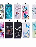 Недорогие -Кейс для Назначение Huawei P20 lite / Huawei P Smart Plus Кошелек / Бумажник для карт / со стендом Чехол Бабочка / дерево Твердый Кожа PU для Huawei P20 / Huawei P20 Pro / Huawei P20 lite / P10 Plus