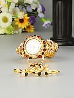 baratos -FEIS Mulheres senhoras Bracele Relógio Quartzo Cronógrafo Lega Banda Analógico-Digital Fashion Dourada - camuflagem verde