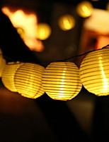 abordables -4.6m Guirlandes Lumineuses 20 LED Blanc Chaud Décorative Alimentation Solaire 1 set