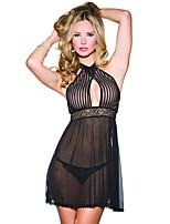 abordables -Femme Robe de chambre Vêtement de nuit Dentelle, Broderie