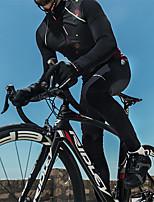 abordables -SANTIC Homme Pantalons de Cyclisme Vélo Pantalon / Surpantalon Pare-vent, Garder au chaud Couleur Pleine Hiver Noir Tenues de Cyclisme / Micro-élastique