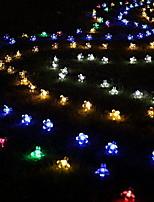 Недорогие -6м Гирлянды 50 светодиоды Разные цвета Декоративная Солнечная энергия 1 комплект