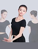 abordables -Danse classique Hauts Femme Entraînement / Utilisation Elasthanne / Lycra Elastique Manches Courtes Haut