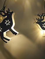 Недорогие -brlong christmas white elk декоративная световая цепочка теплый белый свет 1 шт.