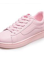 Недорогие -Жен. Полиуретан Весна Кеды На плоской подошве Белый / Розовый