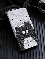 abordables -Coque Pour Apple iPhone XR / iPhone XS Max Portefeuille / Porte Carte / Avec Support Coque Intégrale Chat Dur faux cuir pour iPhone XS / iPhone XR / iPhone XS Max