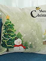 Недорогие -1 штук Нетканые Наволочка, Новинки Рождество