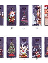 billiga -fodral Till Samsung Galaxy Note 9 / Note 8 Genomskinlig / Mönster Skal Jul Mjukt TPU för Note 9 / Note 8