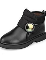 Недорогие -Девочки Обувь Искусственная кожа Зима Модная обувь Ботинки На липучках для Дети / Для подростков Белый / Черный / Красный