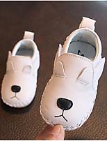 Недорогие -Мальчики / Девочки Обувь Кожа Весна Удобная обувь На плокой подошве для Дети (1-4 лет) Белый / Черный / Красный