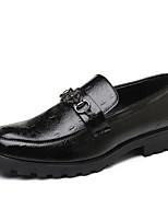 Недорогие -Муж. Комфортная обувь Полиуретан Осень На каждый день Мокасины и Свитер Доказательство износа Черный / Коричневый
