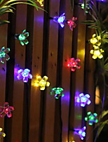 baratos -6,8 m Cordões de Luzes 50 LEDs Multicolorido Decorativa Alimentado por Energia Solar 1conjunto