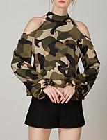 abordables -Tee-shirt Femme, Couleur Pleine - Coton Basique Licou Ample