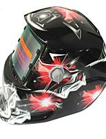 Недорогие -солнечный авто потемнение сварочный шлем 107 красный бриллиант