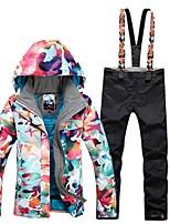 abordables -GSOU SNOW Femme Veste & Pantalons de Ski Lunettes de Ski, Ski, Sports d'hiver Sports d'hiver Polyester Ensemble de Vêtements Tenue de Ski / Hiver