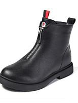 Недорогие -Девочки Обувь Полиуретан Зима Армейские ботинки Ботинки Молнии для Дети Черный / Розовый