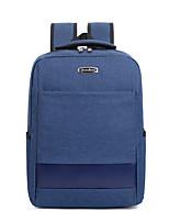"""Недорогие -Муж. / Универсальные Мешки Ткань """"Оксфорд"""" рюкзак Молнии Сплошной цвет Синий / Черный / Серый"""