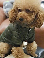 baratos -Cachorros / Gatos Casacos Roupas para Cães Sólido Cinzento / Verde Algodão Ocasiões Especiais Para animais de estimação Unisexo Mantenha Quente / Fashion