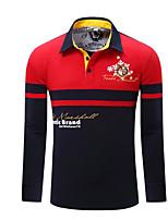Недорогие -мужское поло - цветная рубашка с воротником