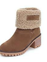 Недорогие -Жен. Искусственная кожа Наступила зима Ботинки На толстом каблуке Круглый носок Ботинки Оранжевый / Зеленый / Верблюжий