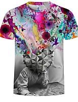 Недорогие -Вдохновлен Косплей Косплей Аниме Косплэй костюмы Косплей футболка другое / Новинки / Рисунок С короткими рукавами Футболка Назначение Муж. Костюмы на Хэллоуин