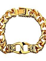 Недорогие -Муж. Толстая цепь Браслеты-цепочки и звенья - Нержавеющая сталь Мода Браслеты Золотой / Серебряный Назначение Подарок Повседневные