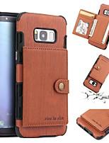 abordables -Coque Pour Samsung Galaxy S8 Plus / S8 Portefeuille / Porte Carte / Antichoc Coque Couleur Pleine Flexible TPU pour S8 Plus / S8