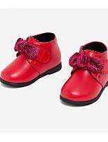 Недорогие -Девочки Обувь Синтетика Зима Удобная обувь / Обувь для малышей Кеды Бант для Дети / Дети (1-4 лет) Черный / Красный