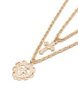 Недорогие -Жен. Двухслойные зонты Слоистые ожерелья - Золотой 45.0  * 45.0  * 2.0 cm Ожерелье Бижутерия 1шт Назначение Свадьба