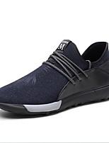 Недорогие -Муж. Fashion Boots Хлопок Весна & осень На каждый день Мокасины и Свитер Дышащий Темно-синий / Хаки