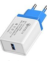 billiga -Laddningsskal USB-laddare EU-kontakt QC 3,0 1 USB-port 3.5 A DC 5V för S8 / S7 / S6