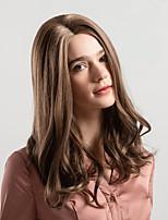 Недорогие -Парики из искусственных волос Жен. Крупные кудри Светло-коричневый Средняя часть Искусственные волосы 18 дюймовый Новое поступление / Природные волосы / вьющийся Светло-коричневый / Омбре Парик