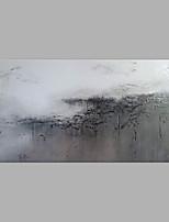 Недорогие -Hang-роспись маслом Ручная роспись - Абстракция / Пейзаж Modern Без внутренней части рамки