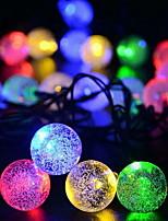 Недорогие -6,8 млн Гирлянды 30 светодиоды Разные цвета Декоративная Солнечная энергия 1 комплект