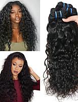 Недорогие -3 Связки Перуанские волосы Волнистые Натуральные волосы / Необработанные натуральные волосы Подарки / Косплей Костюмы / Человека ткет Волосы 8-28 дюймовый Естественный цвет Ткет человеческих волос
