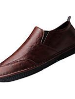 Недорогие -Муж. Комфортная обувь Полиуретан Осень На каждый день Мокасины и Свитер Дышащий Черный / Серый / Коричневый