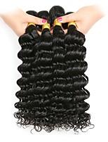 Недорогие -6 Связок Бразильские волосы Малазийские волосы Крупные кудри 8A Натуральные волосы Необработанные натуральные волосы Подарки Косплей Костюмы Головные уборы 8-28 дюймовый Естественный цвет